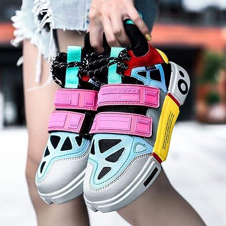 ASTAOT Zapatillas De Deporte para Mujer Zapatillas De Correr Unisex para Pareja Zapatillas De Deporte Al Aire Libre Zapatillas De Deporte Transpirables Zapatos para Correr para Caminar Mujeres-Pink,: Amazon.es: Deportes y aire