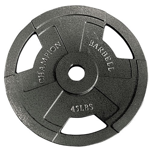Champion Barbell Olympic Grip Plate, 45 lbs