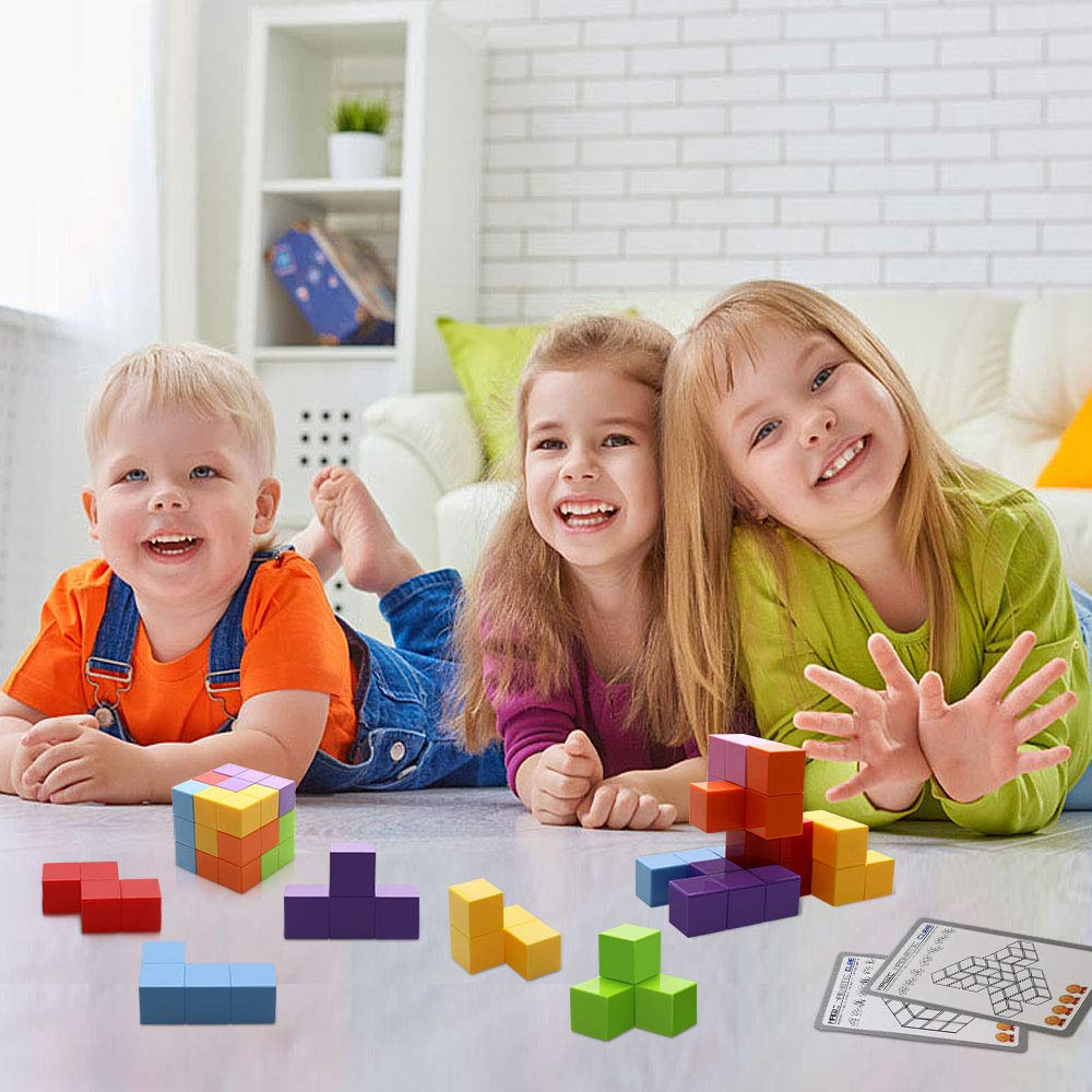 Magnetic Toys Magic Cubes Stress Relief for Adults Magnet Blocks for Kids Magnetic Building Blocks Bricks Toy Educational Puzzles by Bicycle (Image #8)