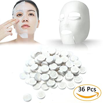 100Pcs Ladies Skin Care DIY Facial Face Compressed Mask Tablet Paper Masque Lumene Valo (LIGHT) Beauty Drops with Vitamin C