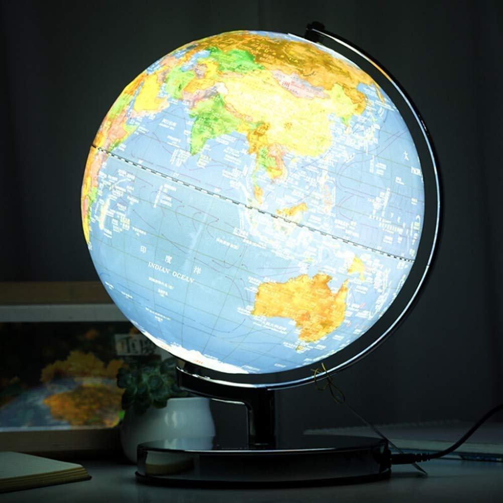 disfruta ahorrando 30-50% de descuento Esfera Mapa Globo con con con Relieve Tridimensional con niños con Luces - Mapeo físico político Dual, Arte, Educación y diversión, para la Escuela, niños, 32 cm  clásico atemporal