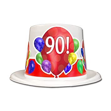 Amazon 90TH BIRTHDAY BALLOON BLAST TOP HAT EACH Kitchen Dining