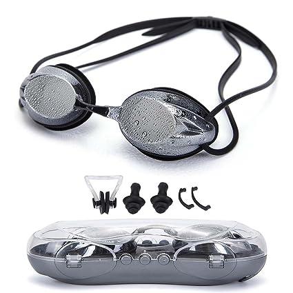 9ec4cd9933 LLOP 5 in 1 UPDATE Mirrored Prescription Training Swimming Goggles  Set