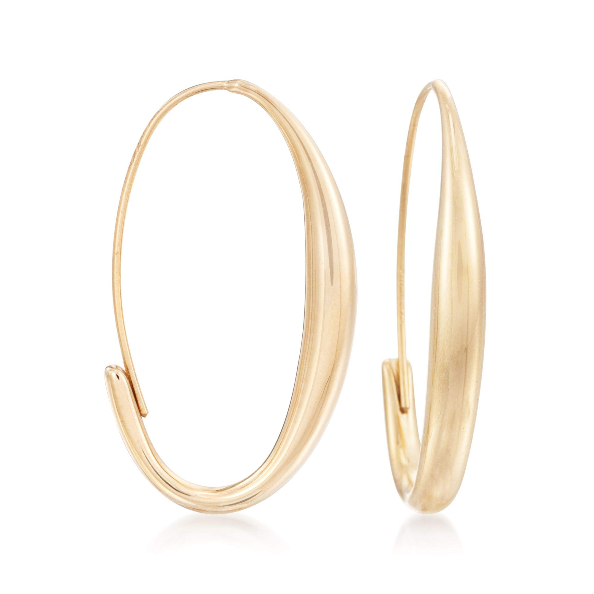 Ross-Simons 14kt Yellow Gold Oval Wire Hoop Earrings