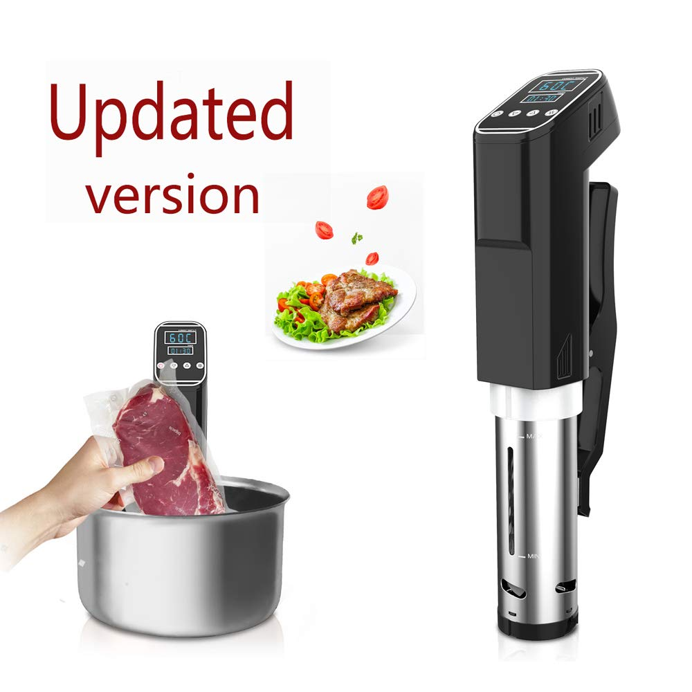 Sous Vide Cooker Vacuum Slow Cooker Immersion Circulator Easy To Use Accurate Temperature Digital Timer LED Elegant Display Ajustable Clamp measurement line