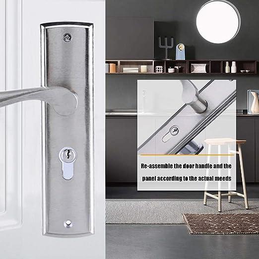 Pestillo para puerta Cerradura de puerta de aleación de aluminio con llaves y accesorios: Amazon.es: Bricolaje y herramientas