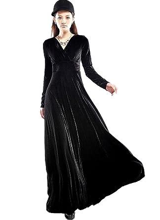 Long black maxi dress uk