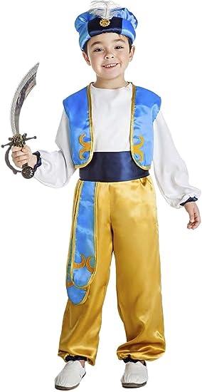 Disfraz de Aladino (Paje de Navidad) 5-6 años: Amazon.es: Juguetes ...