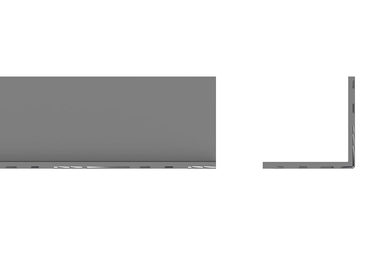 STORMGUARD 18AM036 Checker External Angle Profile Plates, Aluminium, 1000 x 40 x 40 mm, Set of 2 Pieces Srormguard