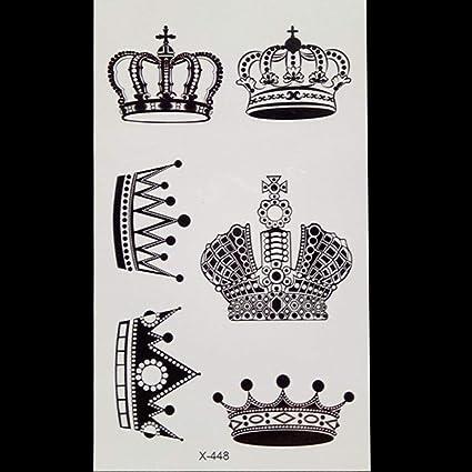 Cuerpo brazo tatuaje temporal corona tatuaje temporal impermeable ...