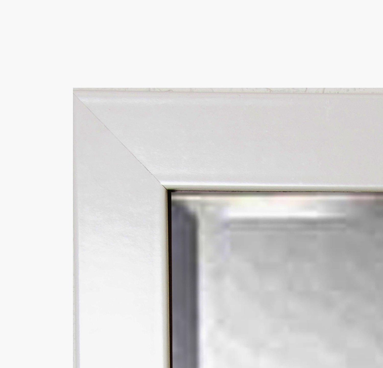 American Made Rayne Glossy White Beveled Wall Mirror, 39.5 x 33.5