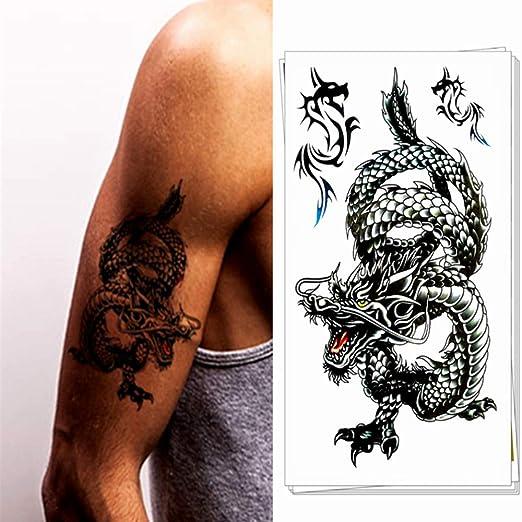 adgkitb 4pcs Pegatinas de Tatuaje Temporal de Cadena de Flores de ...