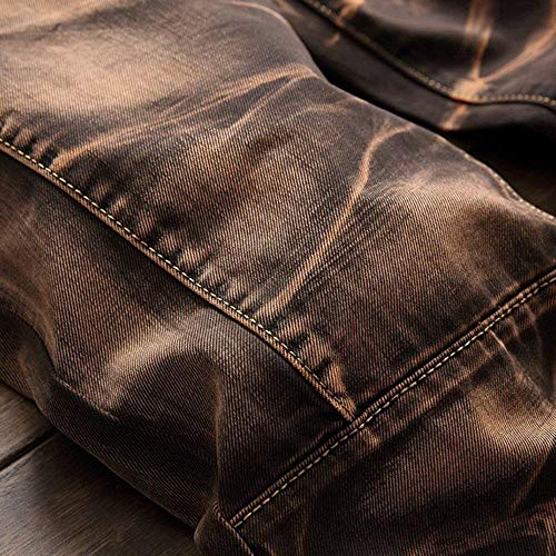 Hip Da Especial hop Retrò In Casual Kaffeebraun Confortevoli Morbido Jeans Estilo Stretch Uomo Pantaloni Denim Bobo Skinny 88 F4qpUU