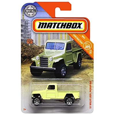 Matchbox MBX Construction '51 Willys Jeep Pickup 4x4 Diecast Car 1:64 Scale: Toys & Games