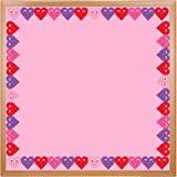 Hygloss Products Happy Hearts Die-Cut Bulletin Board Border – Classroom Decoration – 3 x 36 Inch, 12 Pack