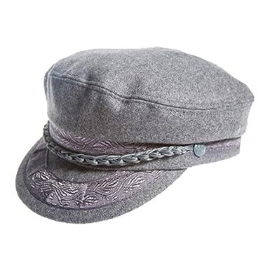 Aegean Authentic Greek Fisherman s Cap - Wool - Grey - Size 60 - (7 ... ba28628483a