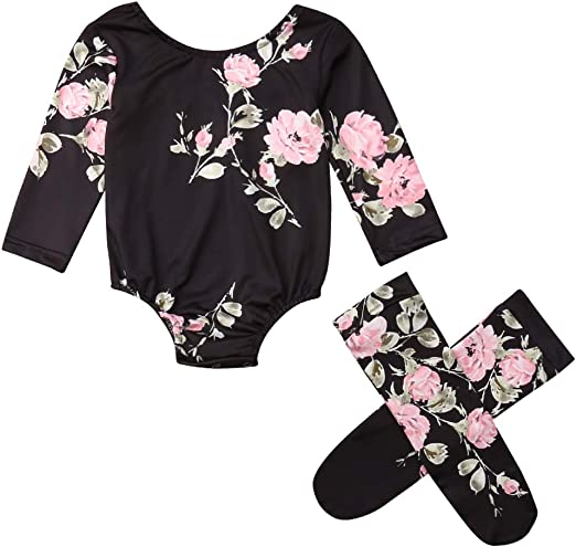 New Baby Newborn Girl Boy Long Sleeve Romper Bodysuit Jumpsuit Clothes 0-18M