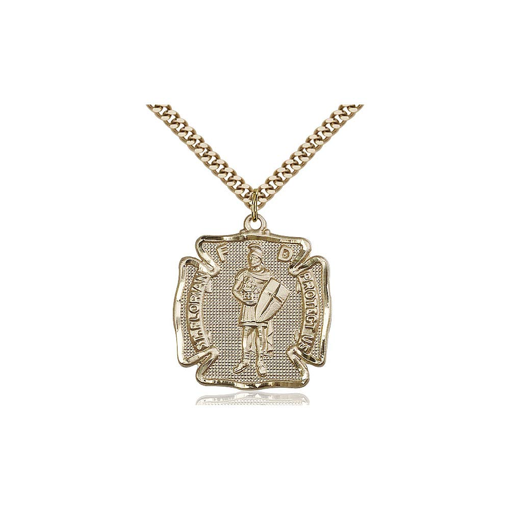 DiamondJewelryNY 14kt Gold Filled St Florian Pendant