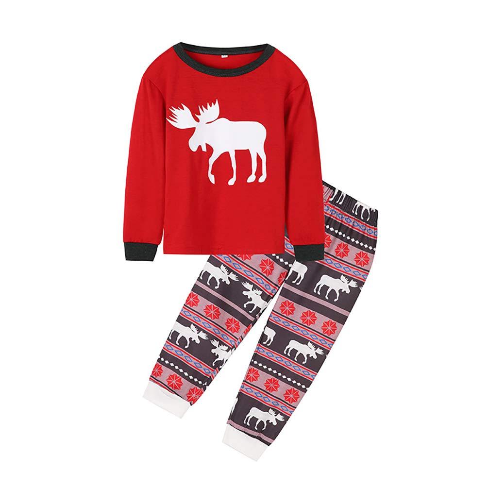 HEHGU Family Matching Sleepwear Family Time Christmas Moose Pajamas PJ Sets
