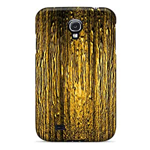 Galaxy S4 Case, Premium Protective Case With Awesome Look - Orange Texture