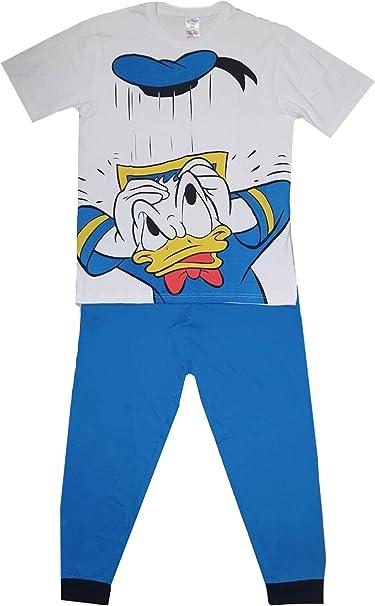 Conjunto de Pijama de algodón Donald Duck para Hombre con Novedad de algodón para Hombre PJs Ropa de Dormir
