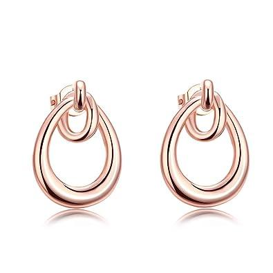 4933b70d93b9 TPHui Elegant Fashion Jewelry Women Plated Rose Gold Stud Earrings (Rgold-1)