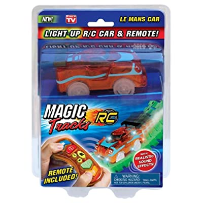 Magic Tracks RC Light Up R/C Car and Remote - Red Le Mans Car: Toys & Games