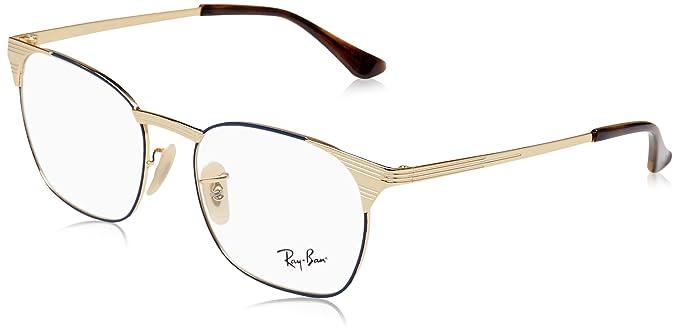 037341c73ae Amazon.com  Ray-Ban Men s RX6386 Eyeglasses Gold Top Blue 53mm  Clothing