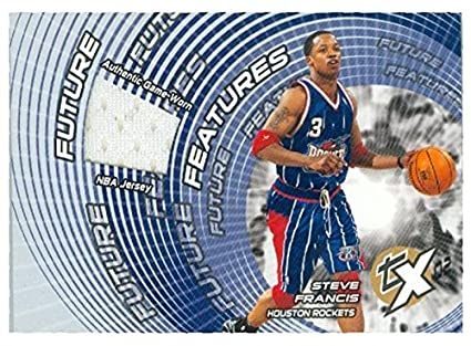 c86dafad4bf Steve Francis player worn jersey patch basketball card (Houston ...