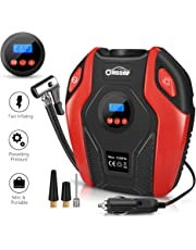 Air Compressor Oasser Tire Inflator Portable Air Inflator Pump Suitable for Cars Bicycles Balls RV and Other Inflatables with LED Light Accurate Pressure Gauge 12V P6