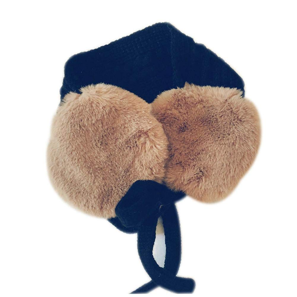 WDOIT Plush Bib Bandage Woolen Band Earmuffs one size