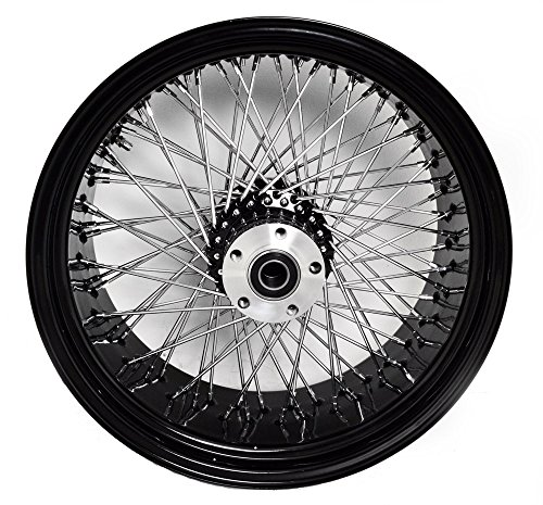 Black 80 Spokes Rear Wheel 250 Wide for Custom Harley