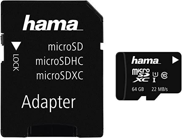 Hama Microsdxc 64 Gb Class 10 Uhs I Memory Card With Computers Accessories