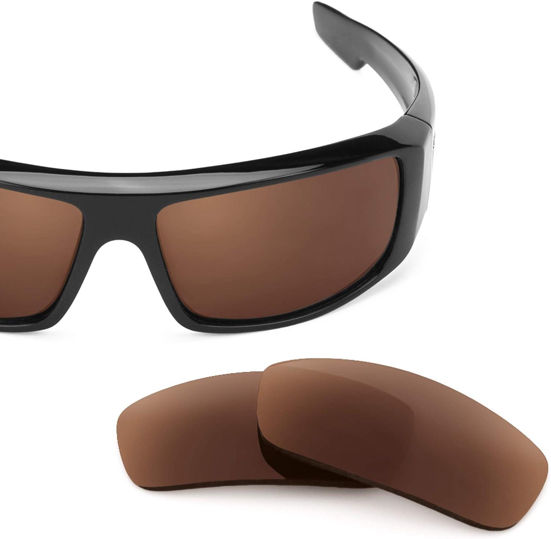 Revant Verres de Rechange pour Spy Optic Logan - Compatibles avec les Lunettes de Soleil Spy Optic Logan Marron Foncé - Non Polarisés