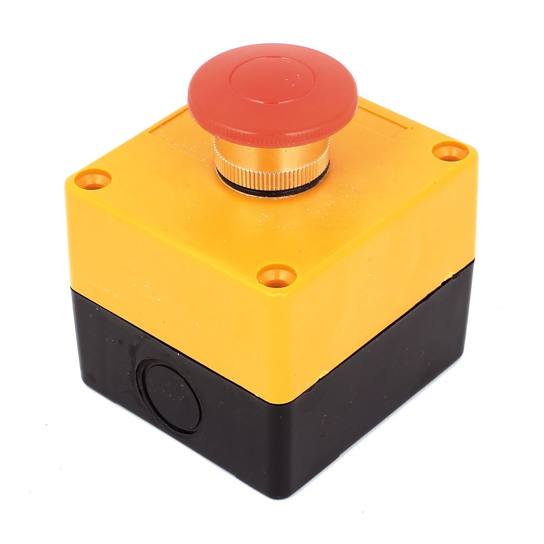 AC 660V 10A 40mm Dia Red Top Momentary DPST Push Button Switch w Box