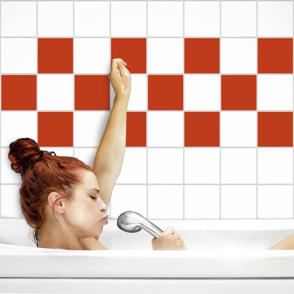 PrintYourHome Fliesenaufkleber für Küche und Bad   einfarbig einfarbig einfarbig weiß matt   Fliesenfolie für 20x20cm Fliesen   152 Stück   Klebefliesen günstig in 1A Qualität B072PTH418 Fliesenaufkleber 663270