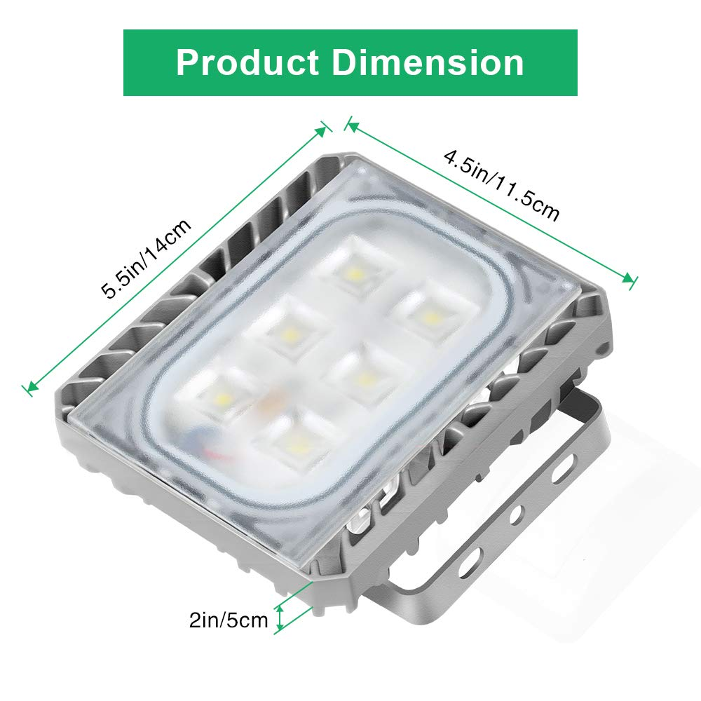 Waterproof 6000K Daylight STASUN 200W 18000lm LED Outdoor Security Lights with Wide Lighting Area LED Flood Light Great for Yard Parking Lot Street Built with CREE LED Chips