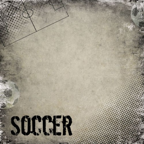 Soccer Antique (34930) 12 inch x 12 inch Scrapbook Paper - 1 Sheet