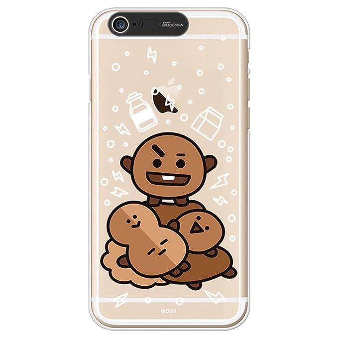 iPhone 6Plus Case/iPhone 6S Plus Case, BT21 BTS Official Light Up Soft Clear Case (SHOOKY)