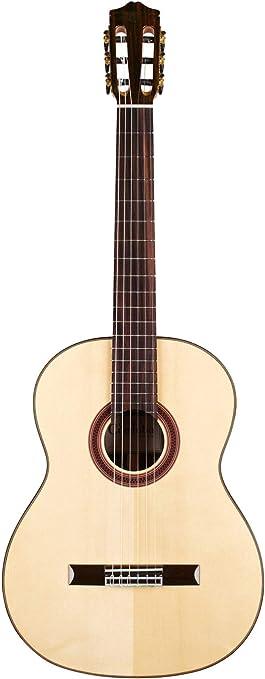 Cordoba C7 SP - Cuerda de nailon acústica para guitarra clásica con bolsa de gato y paquete de accesorios FREE