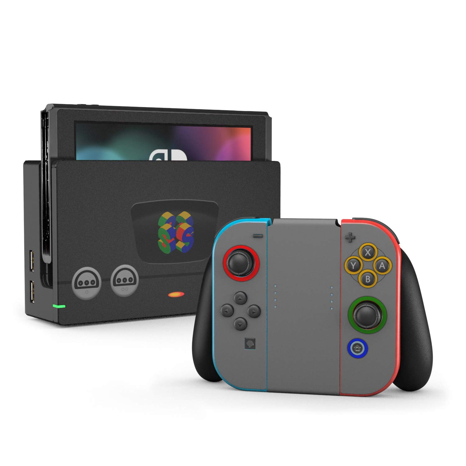 Amazon com six four retro 64 decal sticker wrap compatible with nintendo switch computers accessories