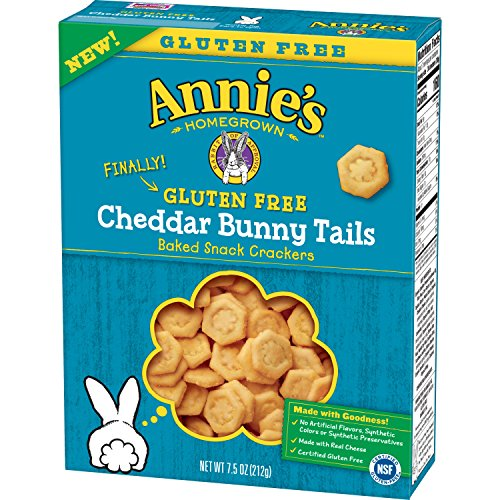 Annie's Gluten Free Cheddar Bunny Tail Snack Crackers, 7.5 oz(us) (Gold Cheddar Cheese)
