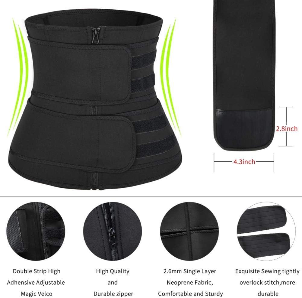 coastal rose Waist Trainer for Women Corset Cincher Belt Slimming Waist Sweat Girdle Workout Belt Body Shaper