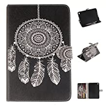 iPad mini4 Case, Showing Totem Series PU Leather Outer Shell + Soft TPU Inner Shell Protective Case for 7.9 Inches Apple iPad mini 4 Tablet Case (White bells)