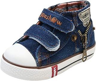 Ragazza Ragazzo Sneaker Unisex, Classiche Casual Outdoor Scarpe di Tela Denim con Suole Morbide Moda Tacco Piatto Antiscivolo Scarpe Sneaker per Bambino Bambini Mxssi Network Technology Ltd
