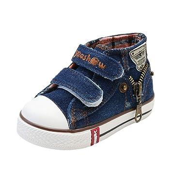 c56964debe Denim Segeltuchschuhe für Baby Kinder, Klassische Flache Canvas Schuhe Mode  Anti-Rutsch Sneaker Kinderturnschuhe