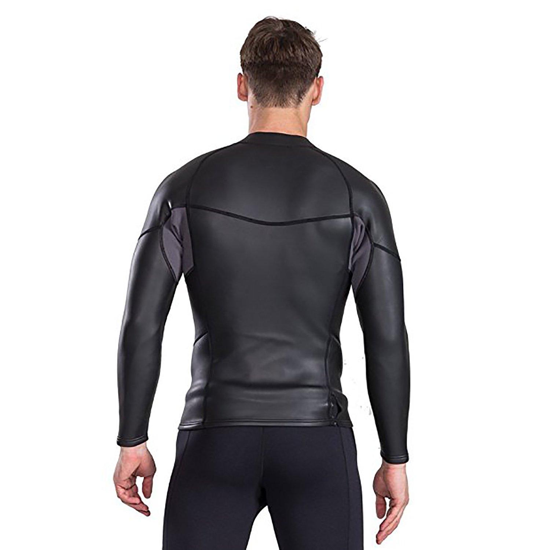 23ef147315 Amazon.com  Cahayi Women Men 2mm Neoprene Long Sleeve Diving Jacket Front  Zipper Wetsuit Top  Sports   Outdoors