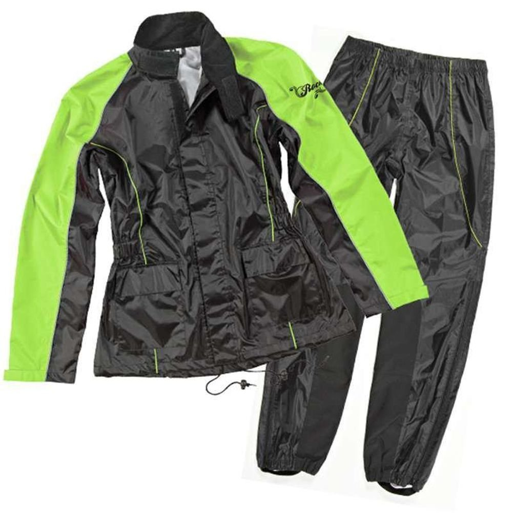 Joe Rocket RS-2 Rain Pants and Jacket Suit-Green-Medium by Joe Rocket