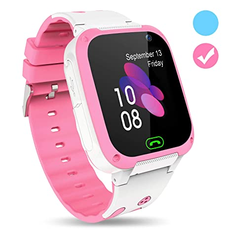 Karaforna Kids Smart Watch Phone – Boys Girls Smartwatch with Camera Games Touch Screen SOS Call Voice Chatting Flashlight Kid Watches Birthday Gifts ...