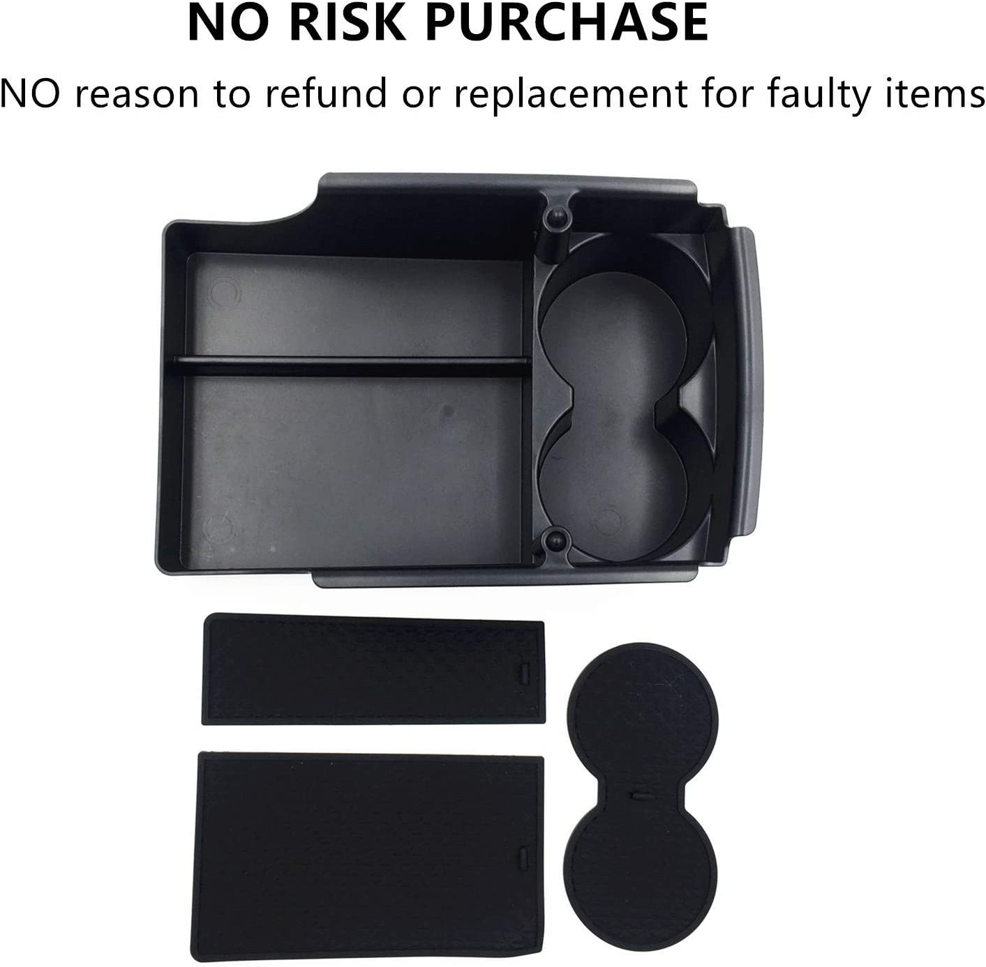 Monland Center Console Armrest Storage Box Holder With Water Cup Container Modification For Tesla Model S And X 2016 2017 2018